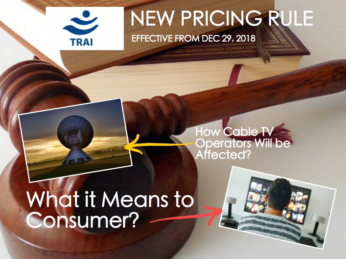 TRAI new pricing rule cable operators